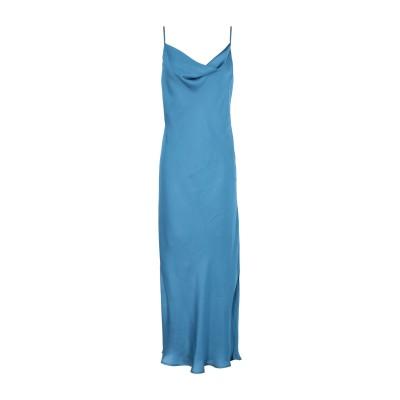 エッセンシャル・アントワープ ESSENTIEL ANTWERP 7分丈ワンピース・ドレス ブルーグレー 38 ポリエステル 100% 7分丈ワンピ