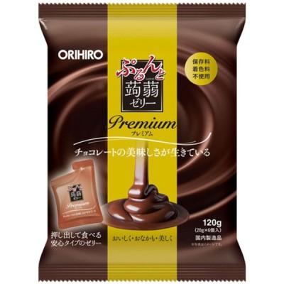 オリヒロ ぷるんと蒟蒻ゼリーパウチ プレミアム チョコレート(20g×6個)