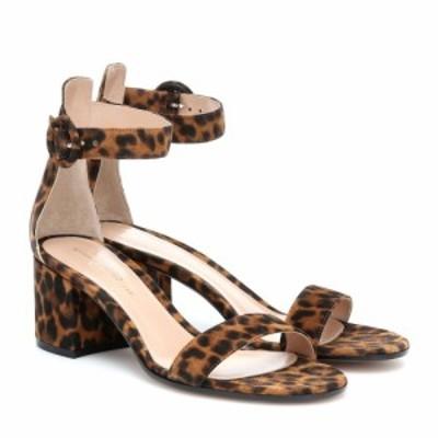 ジャンヴィト ロッシ Gianvito Rossi レディース サンダル・ミュール シューズ・靴 Versilia 60 suede sandals Almond Leopard Print