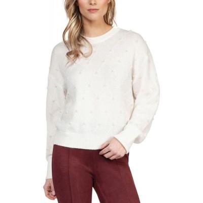 ブラックテープ Black Tape レディース ニット・セーター トップス Textured Imitation-Pearl Sweater Off White