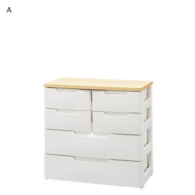 木目調天板の衣類収納チェスト