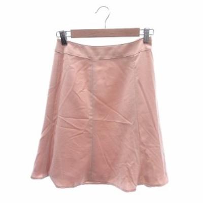 【中古】クイーンズコート QUEENS COURT フレアスカート ひざ丈 1 ピンク /ST レディース