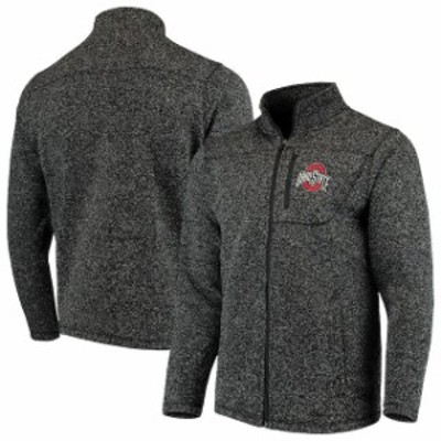 J America Sportswear ジェイ アメリカ スポーツウェア スポーツ用品  Ohio State Buckeyes Heathered Black Marled Sweater Full-Zip Ja