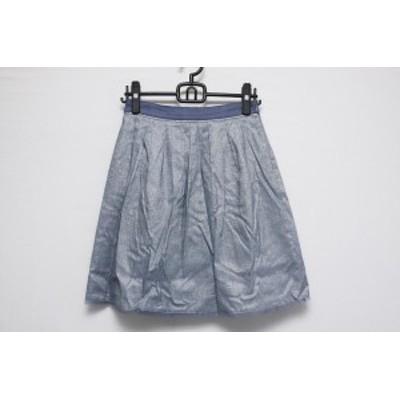 ジャスグリッティー JUSGLITTY スカート サイズ2 M レディース ブルー×シルバー ラメ【中古】