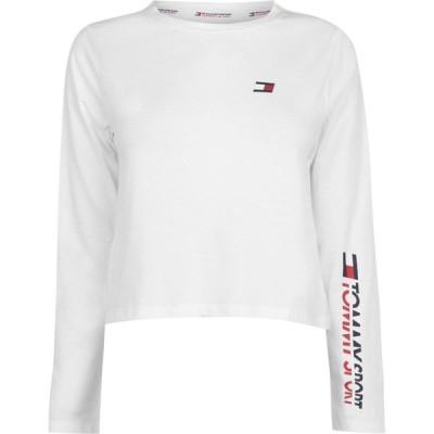 トミーヒルフィガー Tommy Sport レディース 長袖Tシャツ トップス Long Sleeve T-Shirt White YCD