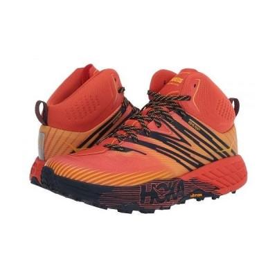 Hoka One One ホカオネオネ メンズ 男性用 シューズ 靴 スニーカー 運動靴 Speedgoat Mid 2 GTX - Mandarin Red/Gold Fusion
