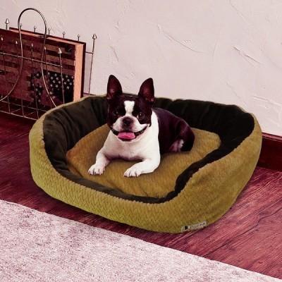 犬 ベッド おしゃれ ペティオ Petio Porta ポルタ クッション付ふんわりあったか包み込みベッド アンティークゴールド L