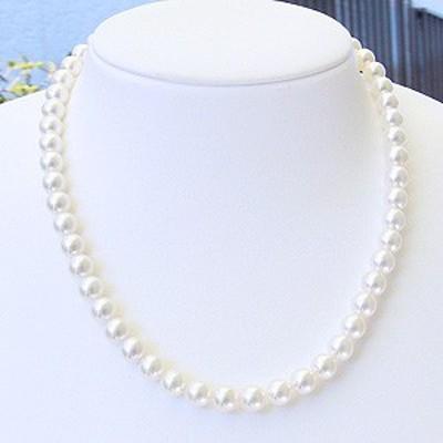 真珠 ネックレス パール イヤリング 2点セット 7.5mm-8mm あこや レディース 冠婚葬祭