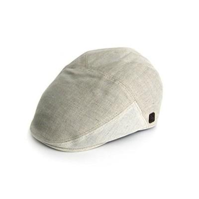 Dasmarca Vigo Ivory Summer Fitted Bakerboy Linen Cap - XL【並行輸入品】