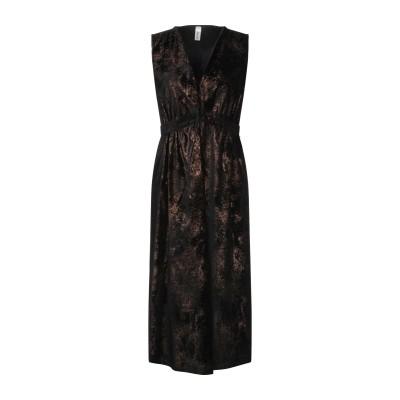 スーベニア SOUVENIR 7分丈ワンピース・ドレス ブラック M ポリエステル 100% 7分丈ワンピース・ドレス