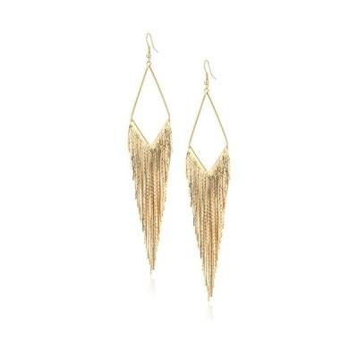 """ゲス ピアス アメリカ 268256-21 GUESS """"Basic"""" Gold Fringe Linear Drop Earrings"""