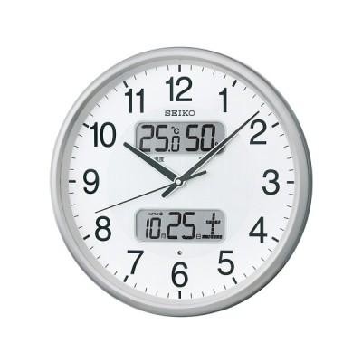 SEIKO セイコー 日付・温湿度表示付電波掛時計 KX383S
