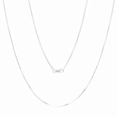 Verona Jewelers Sterling Silver 1MM, 1.5MM Italian 8 Sided Diamond Cut Snake Necklace Chain- Diamond Cut Silver Necklace for Pen