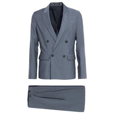 エンポリオ アルマーニ EMPORIO ARMANI スーツ ブルーグレー 46 バージンウール 100% スーツ