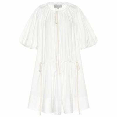 リーマシューズ Lee Mathews レディース ワンピース ワンピース・ドレス Elsie cotton-blend tunic dress Natural