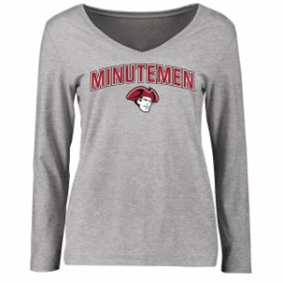 Fanatics Branded ファナティクス ブランド スポーツ用品  UMass Minutemen Womens Ash Proud Mascot Long Sleeve T-Shirt