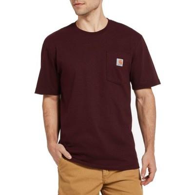 カーハート Tシャツ トップス メンズ Carhartt Men's Workwear Pocket T-Shirt (Regular and Big & Tall) Burgundy
