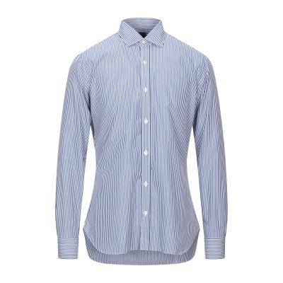 BARBA Napoli シャツ ブルー 45 コットン 100% シャツ