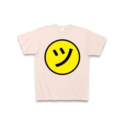 ニコ「ツ」ちゃんマーク Tシャツ Pure Color Print(ライトピンク)