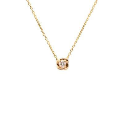 K10イエローゴールド ダイヤモンドペンダント