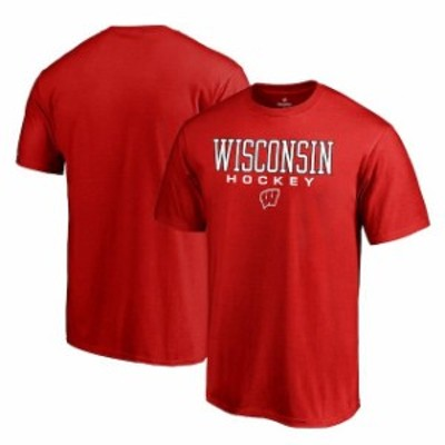 Fanatics Branded ファナティクス ブランド スポーツ用品  Fanatics Branded Wisconsin Badgers Red True Sport Hockey T-Shirt