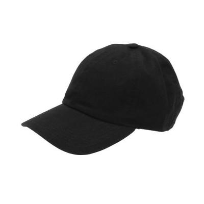 (BACKYARD/バックヤード)NEWHATTAN ニューハッタン #1400 stonewash Baseball Caps solid/メンズ ブラック