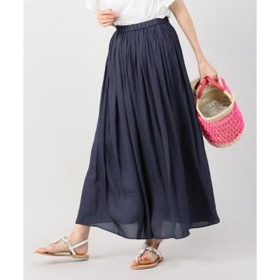 portcros ヴンテージサテンマキシスカート【手洗い可能】◆