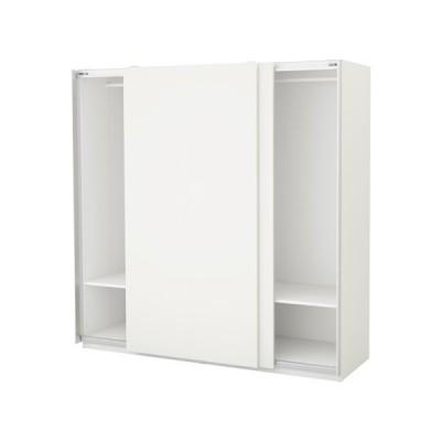 IKEA/イケア PAX ワードローブ, ホワイト, ハスヴィーク ホワイト (791.279.11)