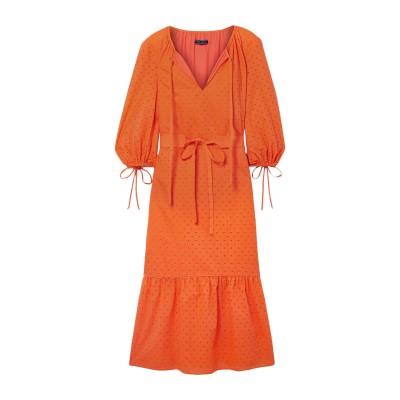 MDS STRIPES 7分丈ワンピース・ドレス オレンジ 6 コットン 100% 7分丈ワンピース・ドレス
