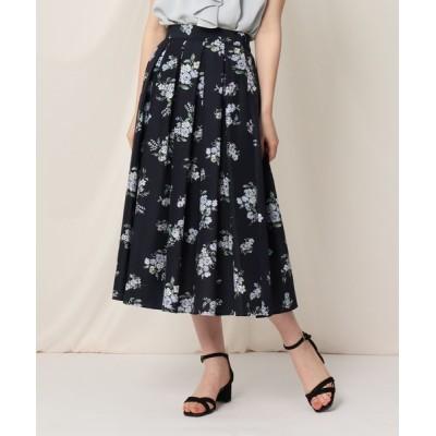 Couture brooch / 【WEB限定サイズ(LL)あり/洗える】ローズプリントフレアスカート WOMEN スカート > スカート