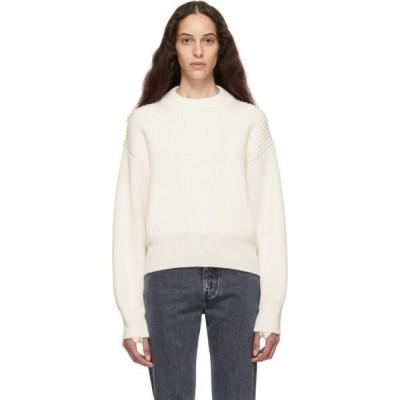 ヘルムート ラング Helmut Lang レディース ニット・セーター トップス Off-White Wool & Cotton Sweater Ecru