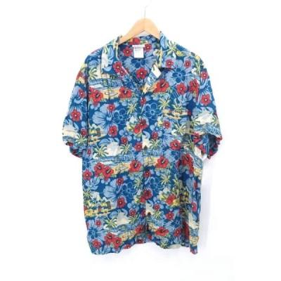 ユーズドフルギ USED古着 90S キャラクターアロハシャツ メンズ XL 中古 古着 210702