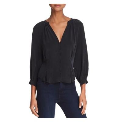 レディース 衣類 トップス JOIE Womens Black Kimono Sleeve V Neck Blouse Evening Top Size: L ブラウス&シャツ