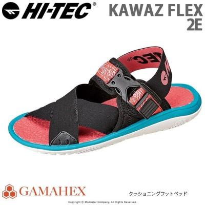 ハイテック [セール] HI-TEC メンズ/レディース サンダル KAWAZ FLEX ブラック/ピンク/ターコイズ htsandal
