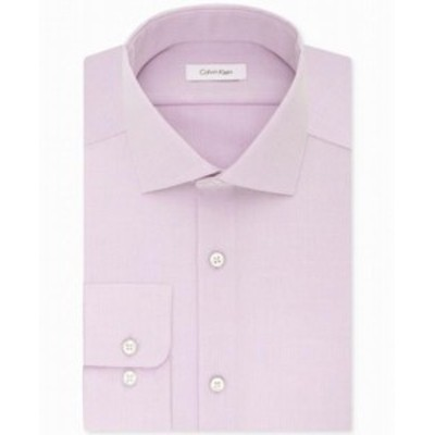 Calvin Klein カルバンクライン ファッション ドレス Calvin Klein NEW Purple Mens Size 17 Non-Iron Classic Fit Dress Shirt