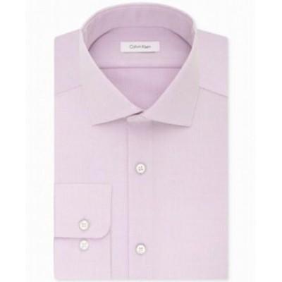 Calvin Klein カルバンクライン ファッション ドレス Calvin Klein NEW Purple Mens Size 17 Non-Iron Classic Fit Dress Shirt