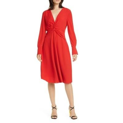 エキプモン レディース ワンピース トップス Faun Twist Front Long Sleeve Dress AURA ORANG