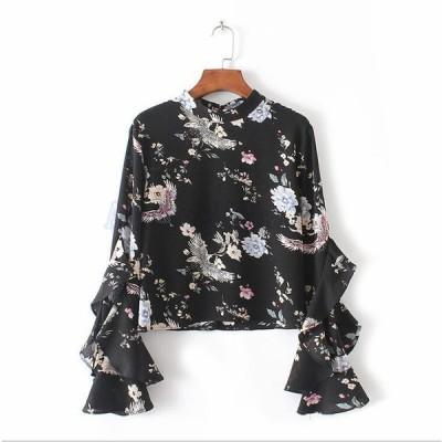 シャツブラウス  大きいサイズ チュニック レディース  無地  新作 花柄 体型カバー  ゆったり  AlohaMahalo ファッション 可愛い