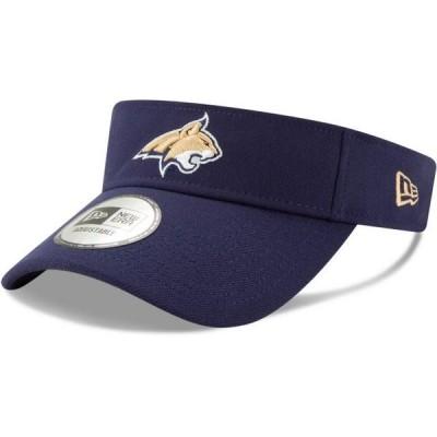 ユニセックス スポーツリーグ アメリカ大学スポーツ Montana State Bobcats New Era Flash Visor - Navy - OSFA 帽子