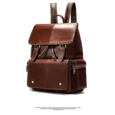 QLC84上層牛革100%ビジネス バッグパック バックパック 多機能スポーツバックパック スクールバッグ 男女兼用