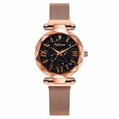 レディース 腕時計 丸超薄型 ファッション 耐水 海外輸入品 星空 クォーツ 金