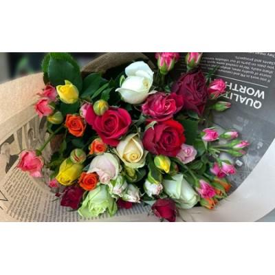 薔薇の色どりパック 20本