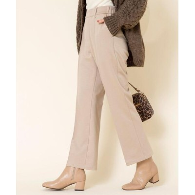 coen / ツイルジャージーセンタータックパンツ WOMEN パンツ > スラックス
