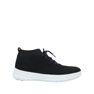FITFLOP スニーカー&テニスシューズ(ハイカット) ブラック 4.5 紡績繊維 スニーカー&テニスシューズ(ハイカット)