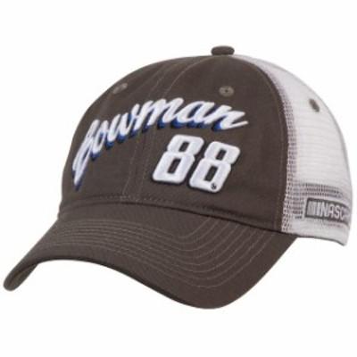Kudzu クズ スポーツ用品  Alex Bowman Womens Charcoal/White Script Trucker Adjustable Hat