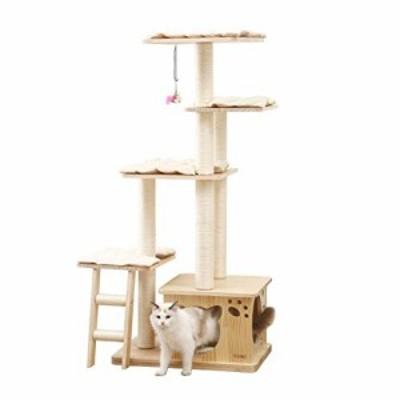 ケージ 猫の木サイザルスクラッチポストの猫ハウス大猫ケージ木製クライミ (中古品)