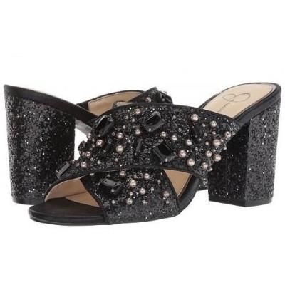 Jessica Simpson ジェシカシンプソン レディース 女性用 シューズ 靴 ヒール Rizell - Black Chunky Glitter/Shimmer Sand