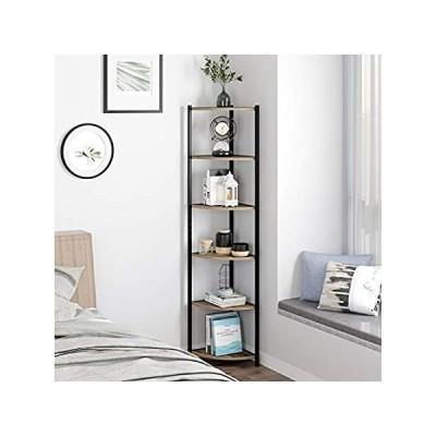 特別価格HOMECHO 6 Tier Corner Shelf, Industrial Corner Bookcase Small Display Rack,好評販売中