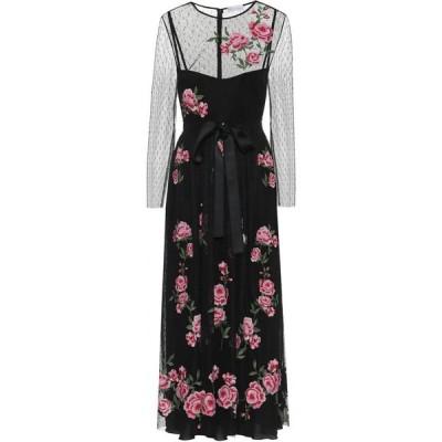 レッド ヴァレンティノ REDValentino レディース ワンピース ミドル丈 ワンピース・ドレス Floral Midi Dress Nero