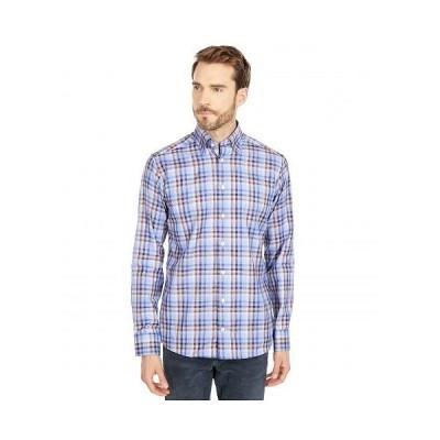 Eton イートン メンズ 男性用 ファッション ボタンシャツ Slim Fit Plaid Signature Twill Shirt - Blue/Brown
